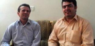 Die iranischen Gewerkschafter Jafar Azimzadeh und Esmail Abdi